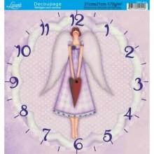 Papel decoupage Reloj
