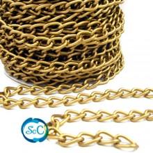 Cadena color oro viejo, 8 milímetros de ancho