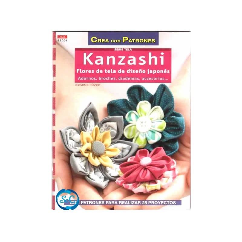 Libro Kanzashi, Flores de tela de diseño japones