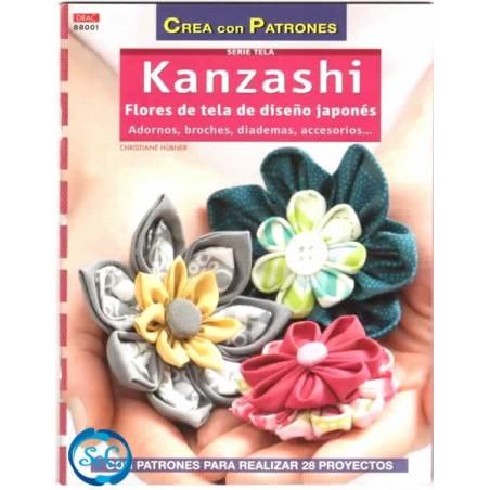 Libro DRAC 88001 Kanzashi, Flores de tela de diseño japones