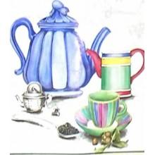 Papel decoupage Azulejos tetera