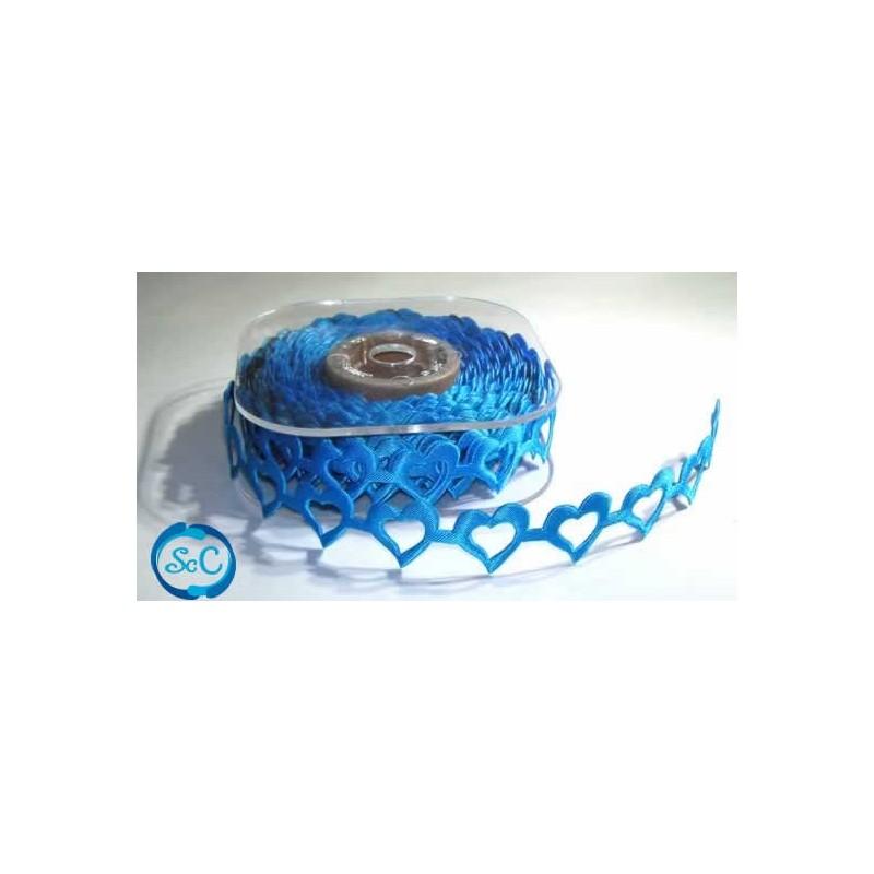 Cinta decorativa corazones azules