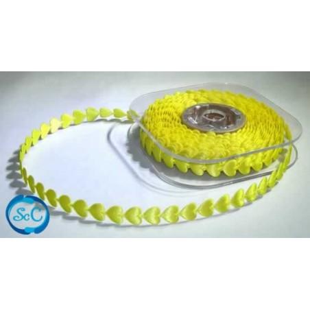 Cinta decorativa corazones amarillos 1 m