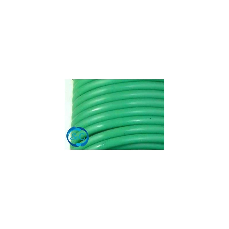 Cordón de caucho hueco, 4 mm, Verde