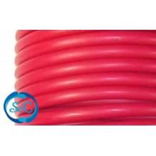 Cordón de caucho hueco, 4 mm, Rojo