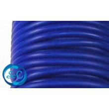Cordón de caucho hueco, 4 mm, Azul oscuro
