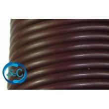 Cordón de caucho hueco, 4 mm, Marrón