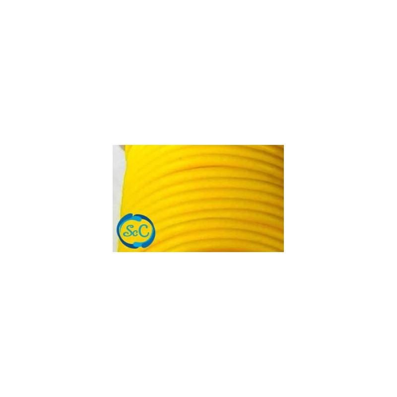 Cordón de caucho hueco, 4 mm, Amarillo