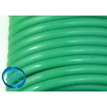 Cordón de caucho hueco, 5 mm, Verde