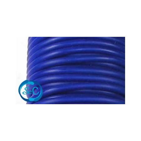Cordón de caucho hueco, 5 mm, Azul oscuro