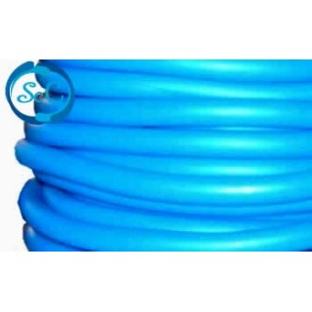 Cordón de caucho hueco, 5 mm, Azul medio