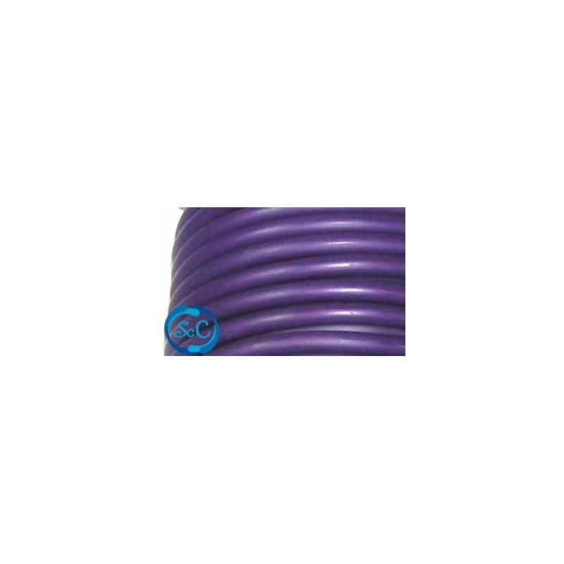 Cordón de caucho hueco, 5 mm, Morado