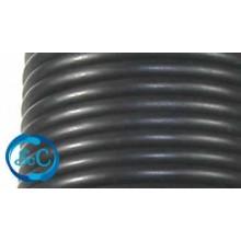 Cordón de caucho hueco, 5 mm, Negro