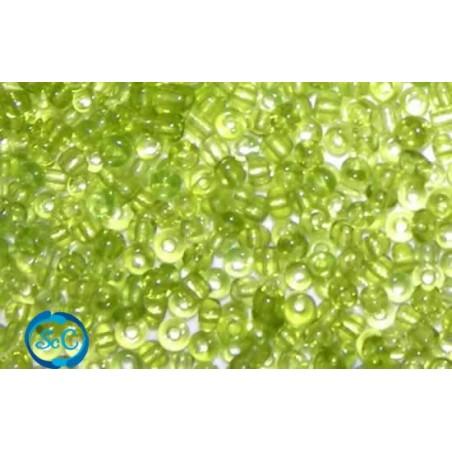 Bolsa de rocalla Verde claro transparente 1mm, 20 gr