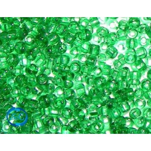 Bolsa de rocalla Verde medio transparente 1mm, 20 gr