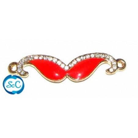 Bigote pulsera esmalte Rojo