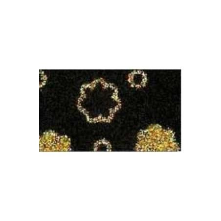 Goma eva estampada Negro flores oro