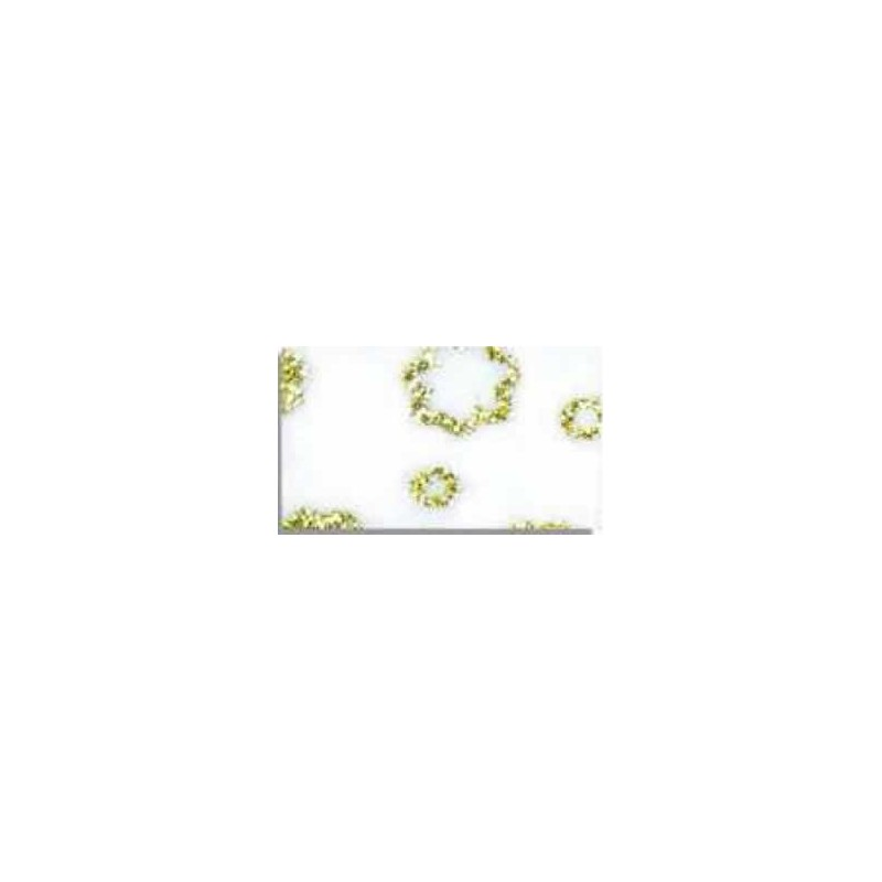 Goma eva estampada Blanco flores oro