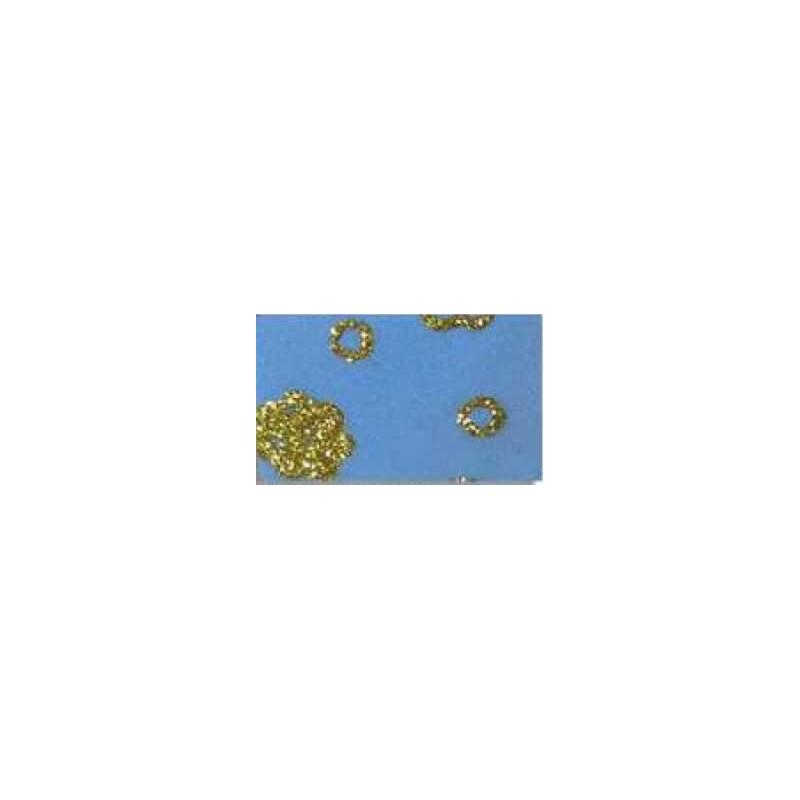 Goma eva estampada Azul flores oro