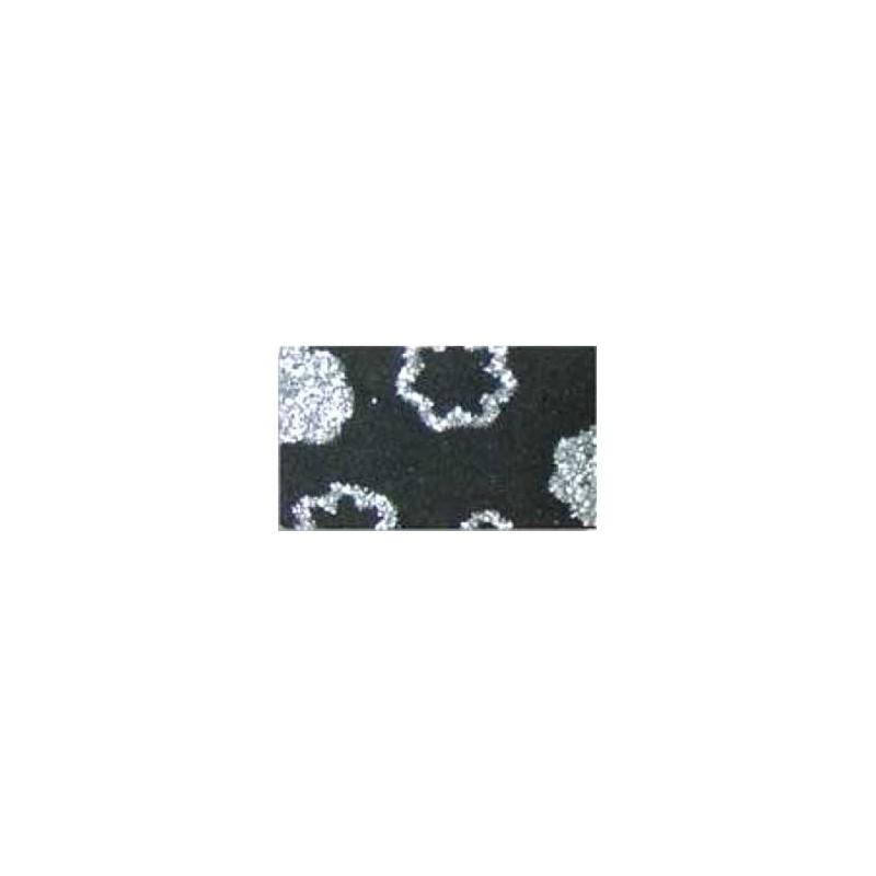 Goma eva estampada Negro flores plata
