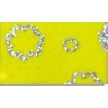Goma eva estampada Amarillo flores plata