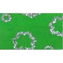 Goma eva estampada Verde flores plata