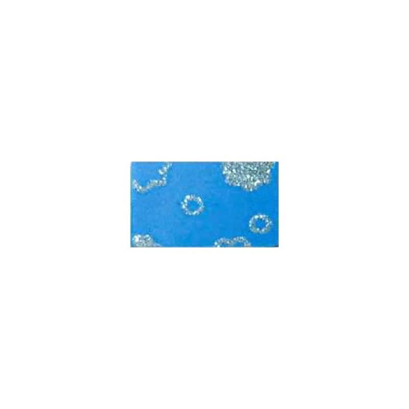 Goma eva estampada Azul flores plata