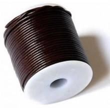 Rollo de cordón de cuero 5 mm nacional extra 25 mt. Marrón