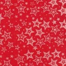 Planchas de goma eva estampada, Estrellas plata fondo rojo