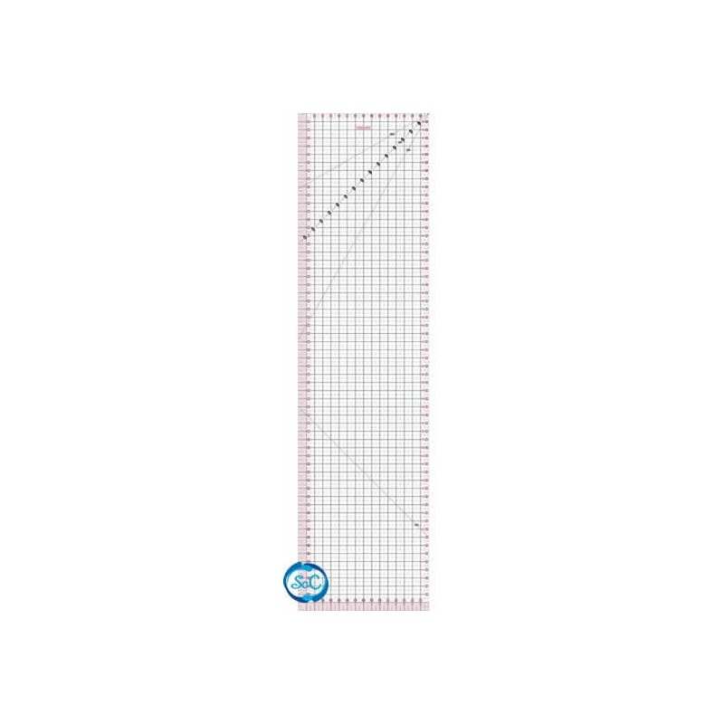 Regla Patchwork transparente 15 x 60 cm