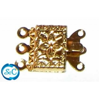 BROCHE 3 HILOS COLOR Dorado