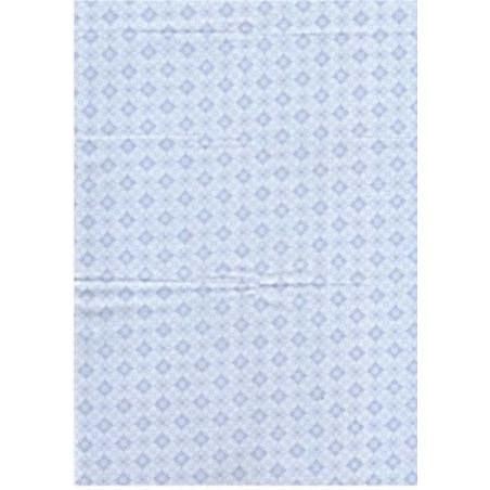 Tela patchwork Grecas Fondo azul bebe