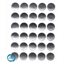 Pegatina circulo plata, 30 unidades
