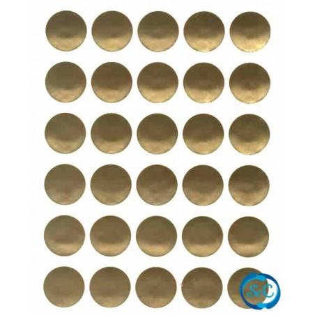 Pegatina circulo oro, 30 unidades