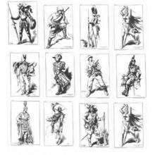 Laminas dibujo E. Freixas Uniformes militares, 12 laminas