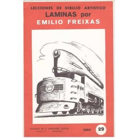 Laminas dibujo E. Freixas Trenes