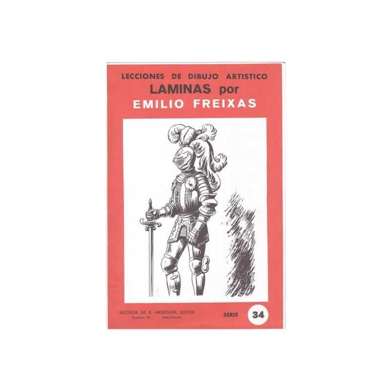 Laminas dibujo E. Freixas Armas y armaduras