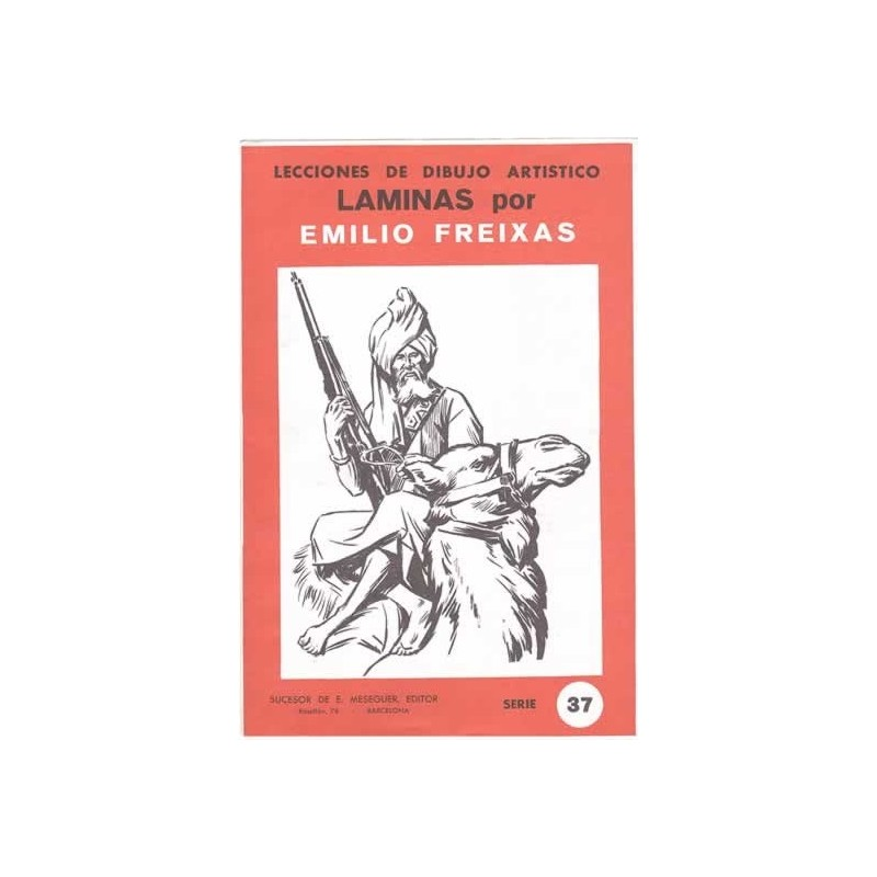 Laminas dibujo E. Freixas Personajes étnicos