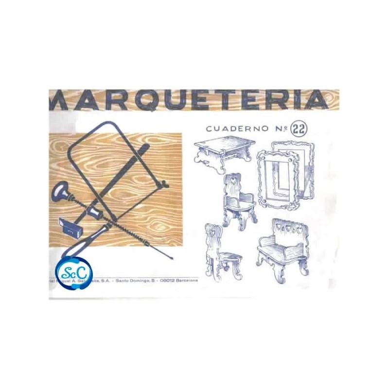 Cuaderno de marqueter a n 22 patrones de silla mesa - Cuadernos de marqueteria ...