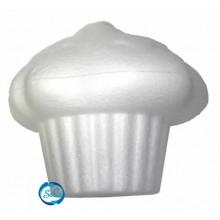 Cupcake nata con guinda, vista lateral
