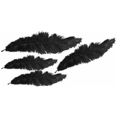 Plumas marabu Negras