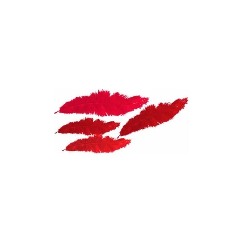 Plumas marabu Rojas