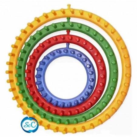 Telar Circular para tejer. Set de cuatro telares