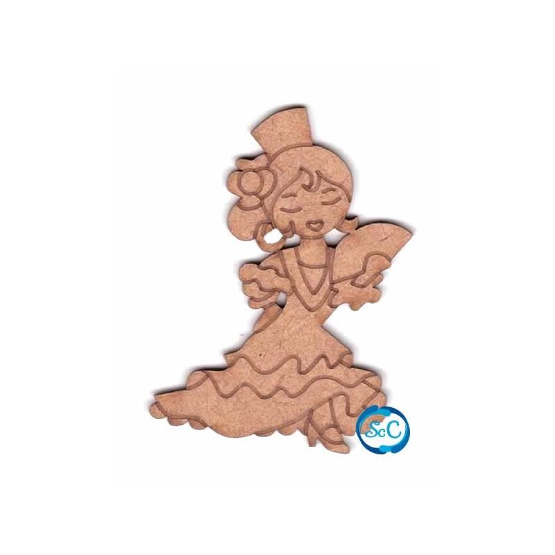 Dolly sevillana con abanico, silueta 113 Dayka