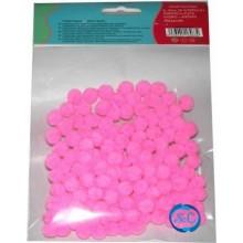 Bolas o pompones 1 cm rosa