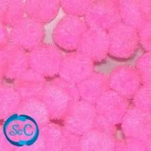 Bolas o pompones 1 cm rosa, ampliación