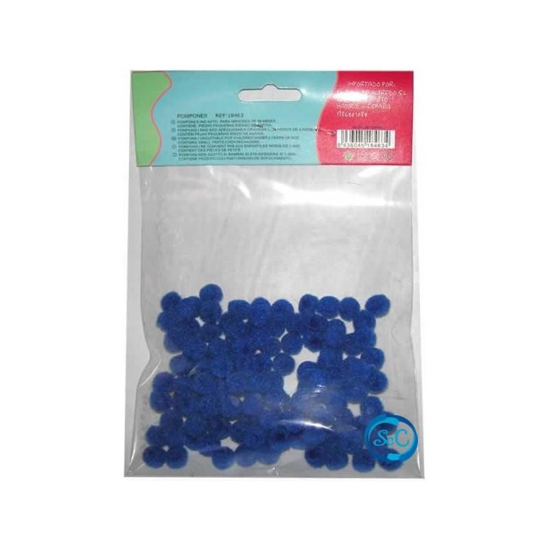 Bolas o pompones 1 cm azulón
