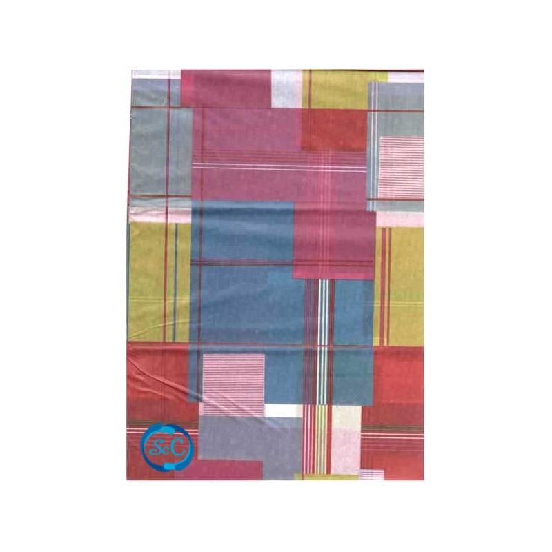 Papel seda decorado cuadros de colores
