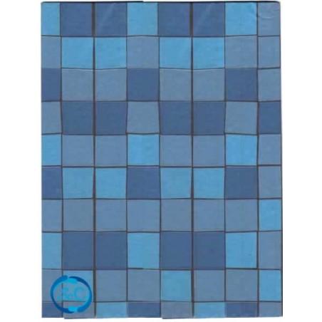 Papel seda decorado cuadros azules