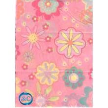 Papel seda decorado flores fondo rosa